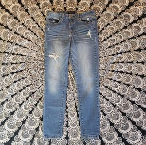 AEROPASTLE High waisted Distressed Skinny Jeans 8